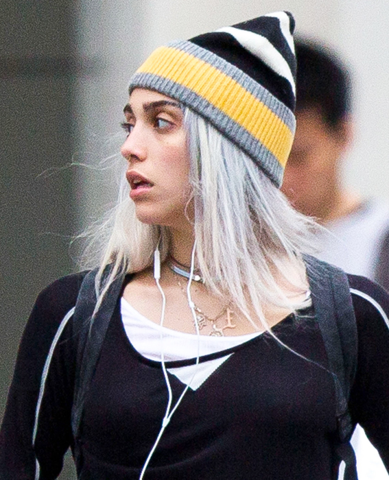 Exclusive... Lourdes Leon Rocking Silver Hair In NYC