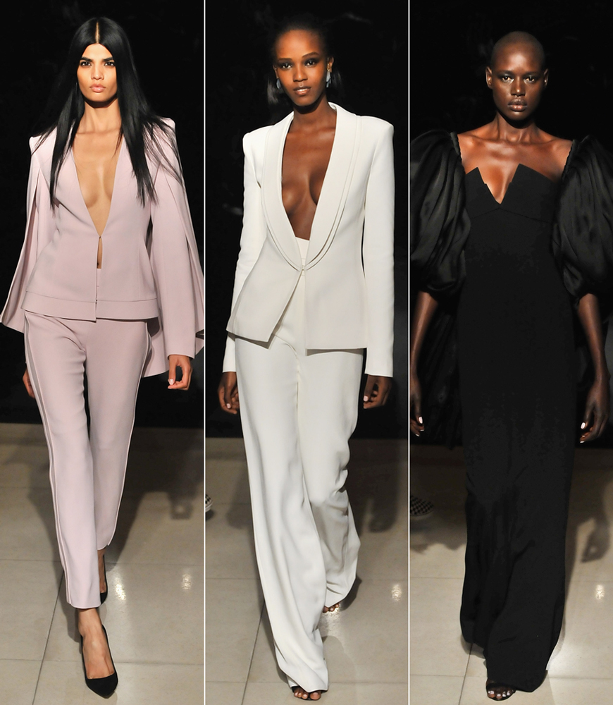 Brandon Maxwell fashion show during Spring 2016 New York Fashion Week