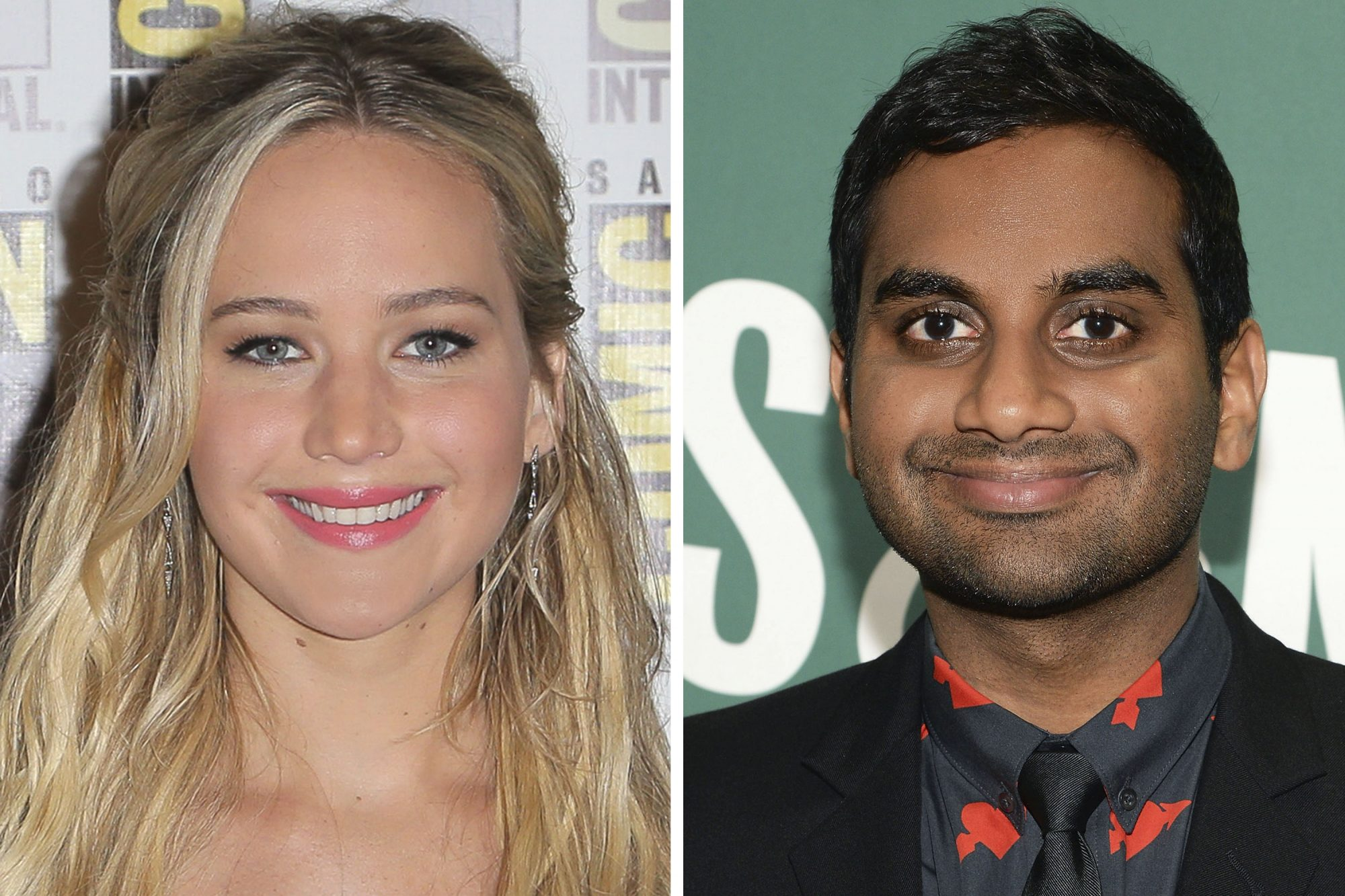 Jennifer Lawrence and Aziz Ansari