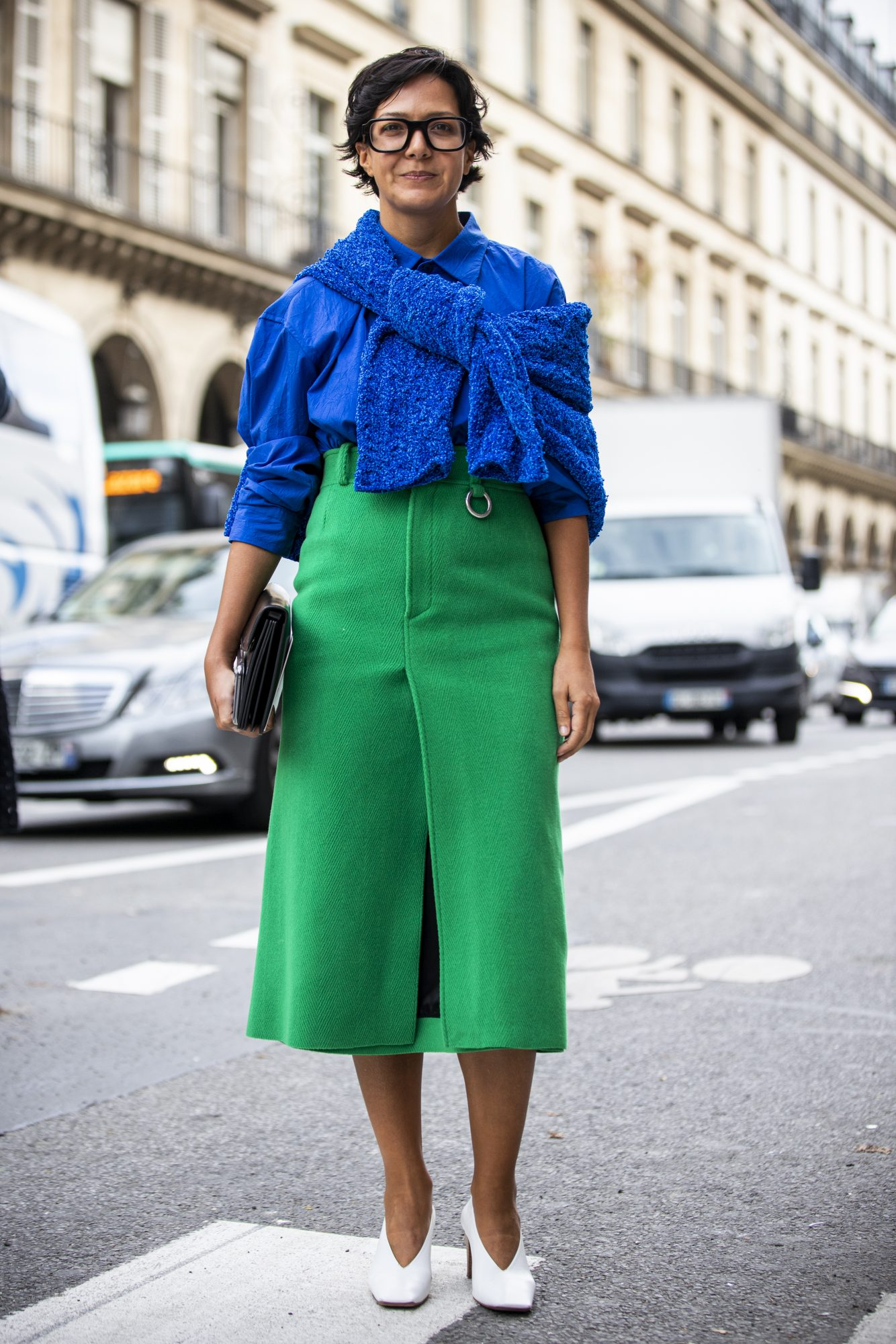 Colorblocked outfit street style