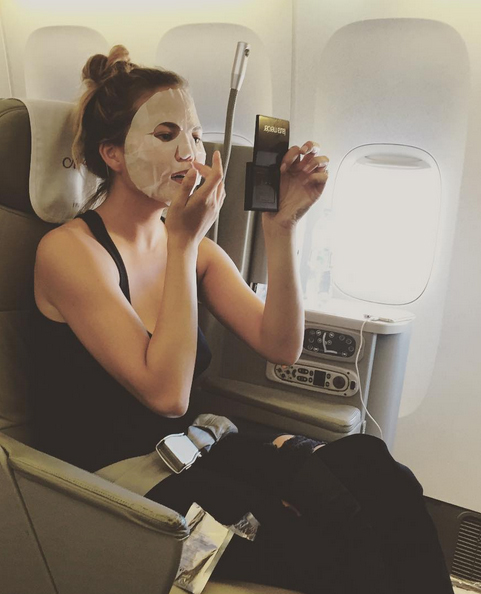 In-flight face mask? Check.