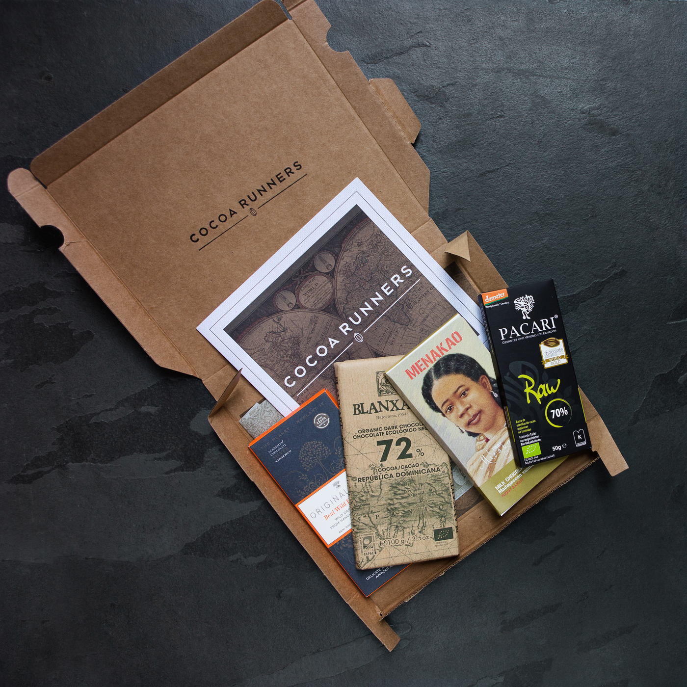 Cocoa Runners chocolate food subscription box