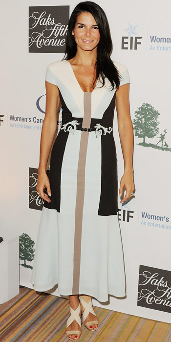 Angie Harmon in Carolina Herrera