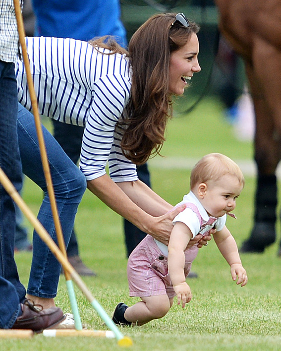 Prince George Gets Ready to Crawl