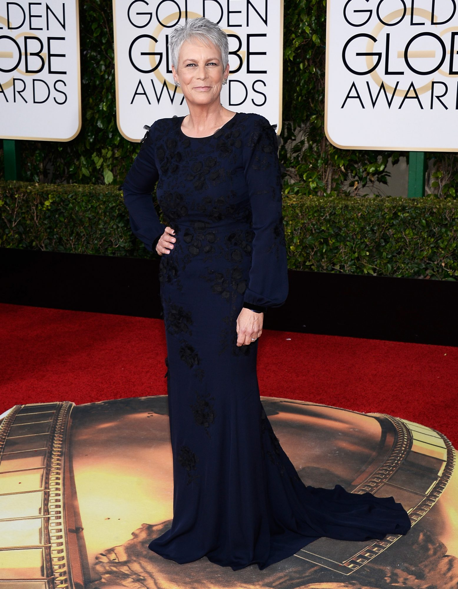 Jamie Lee Curtis at the 2016 Golden Globes