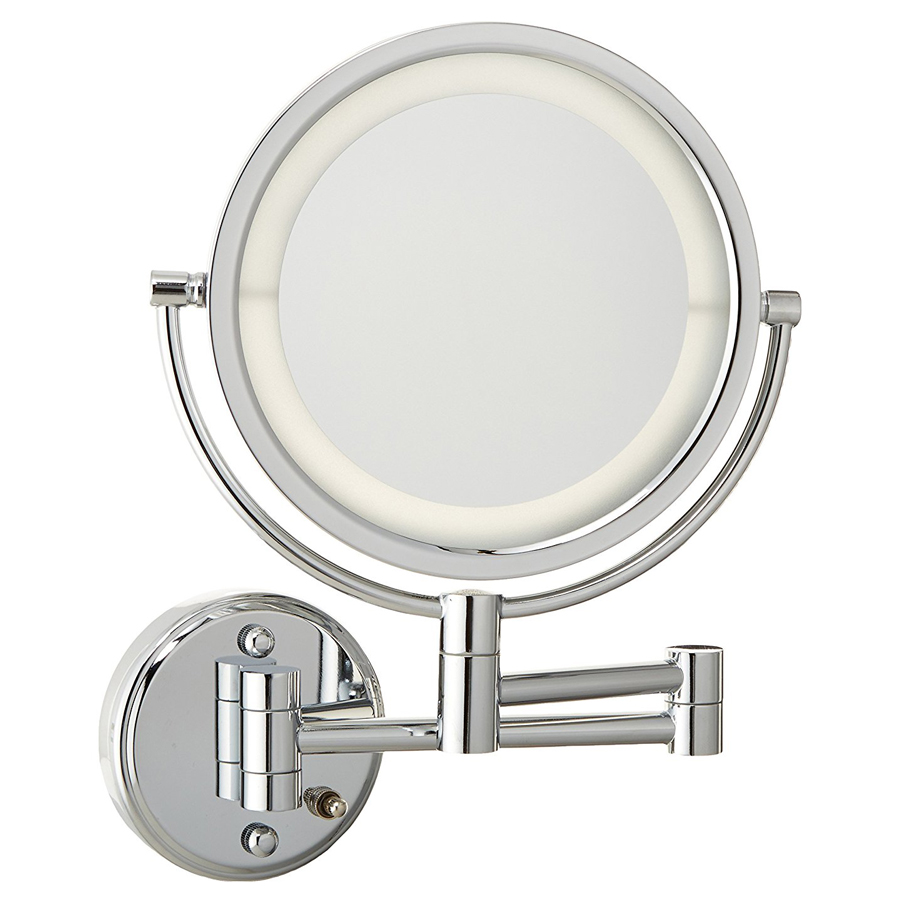 Jerdon HL88CLD 8.5-Inch LED Lighted Direct Wire Wall Mount Makeup Mirror