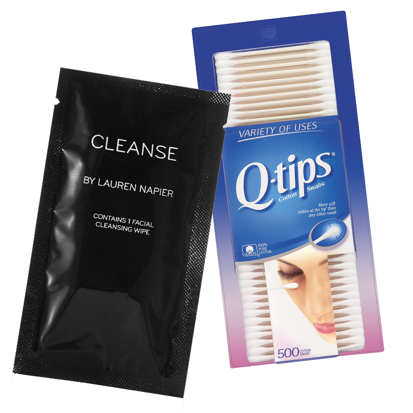 Cleanse by Lauren Napier Facial Cleansing Wipes and Q-Tips