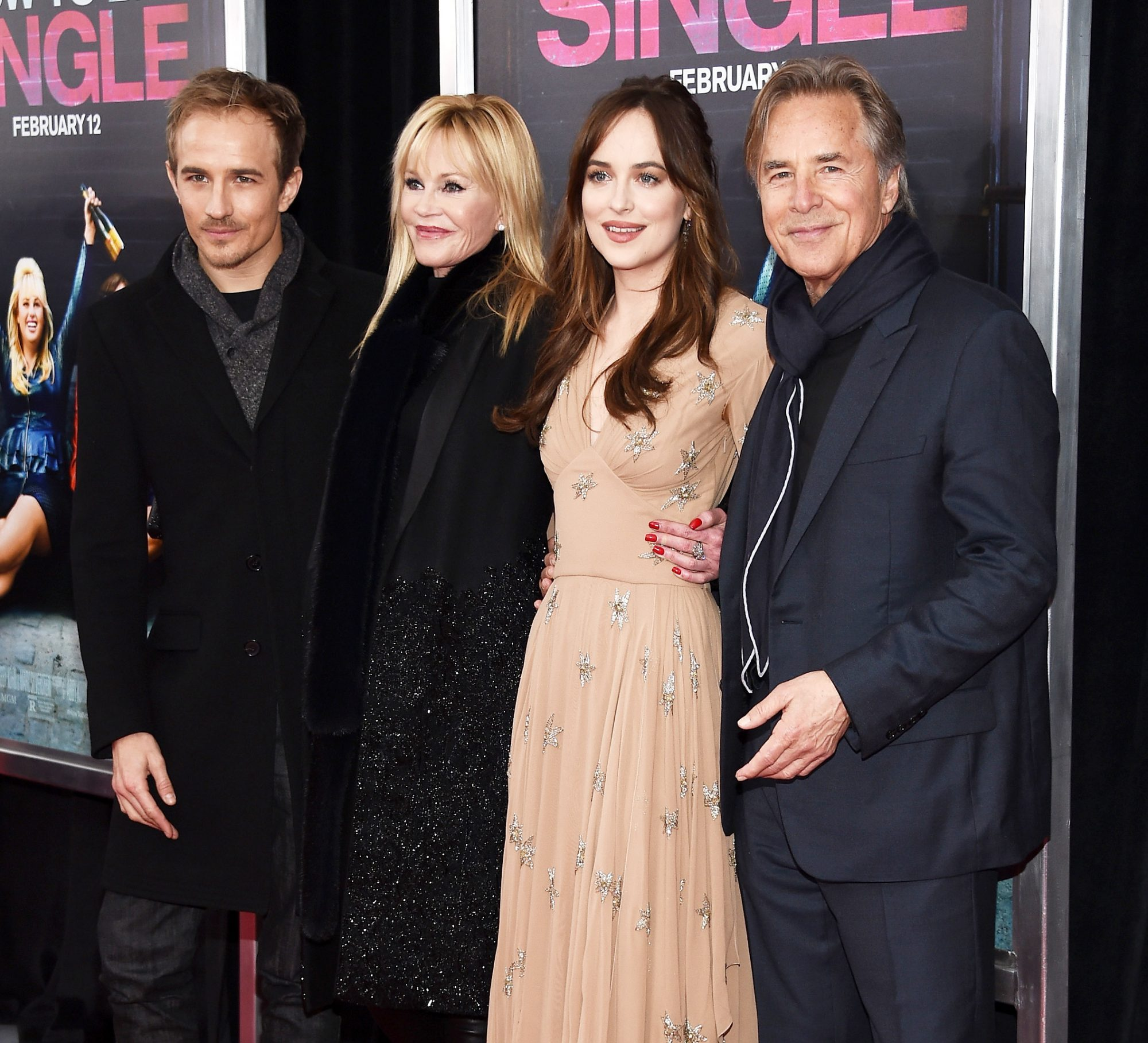 "Jesse Johnson, Melanie Griffith, Dakota Johnson, and Don Johnson - premiere of ""How To Be Single"" - February 3, 2016"