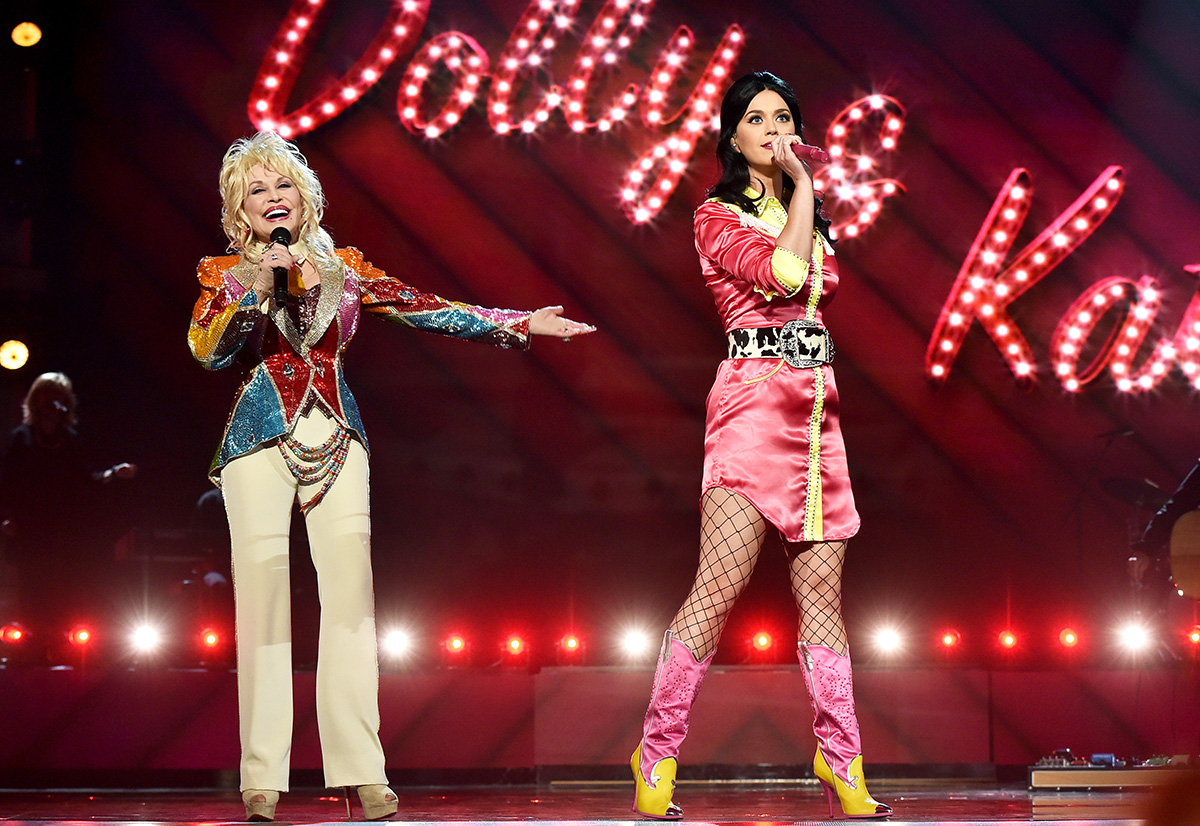 Dolly Parton and Katy Perry lead