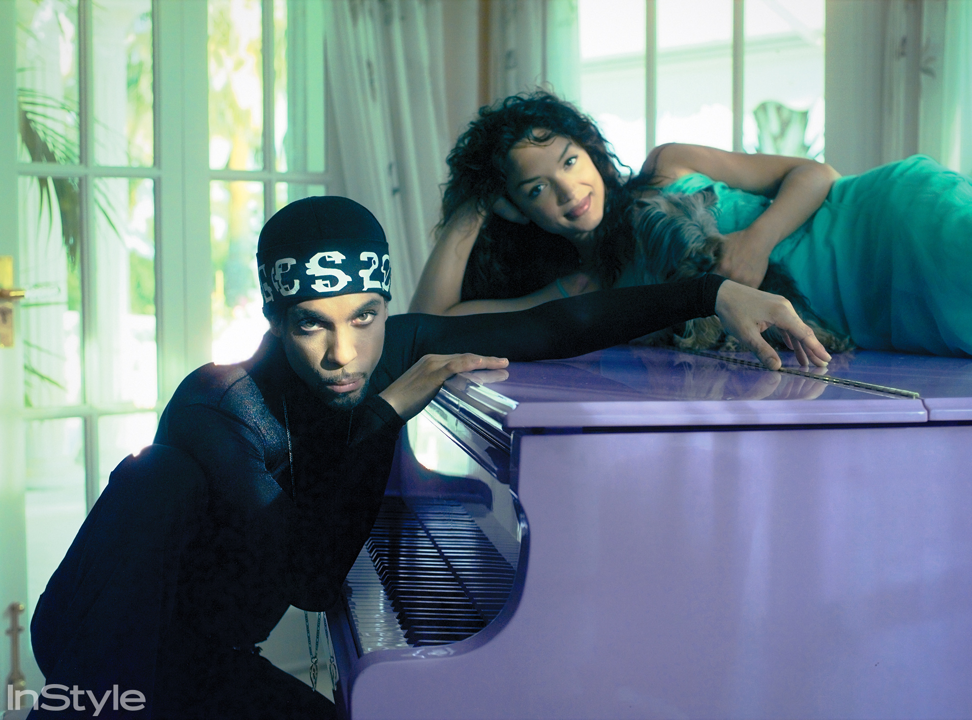 Prince and Then-Partner Mayte Garcia in Their Marbella Villa