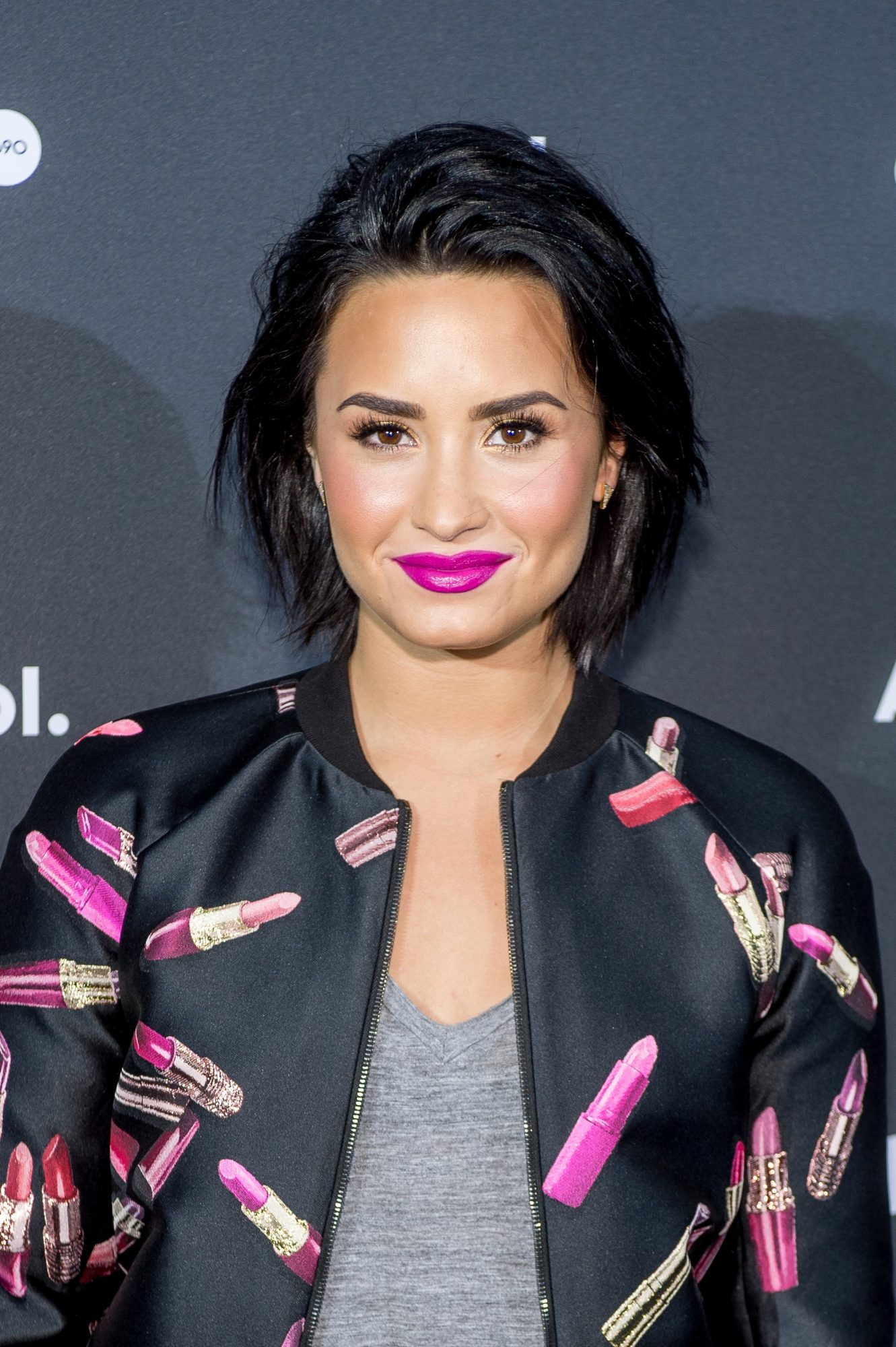 Singer Demi Lovato attends AOL Newfront on May 3, 2016 in New York City.