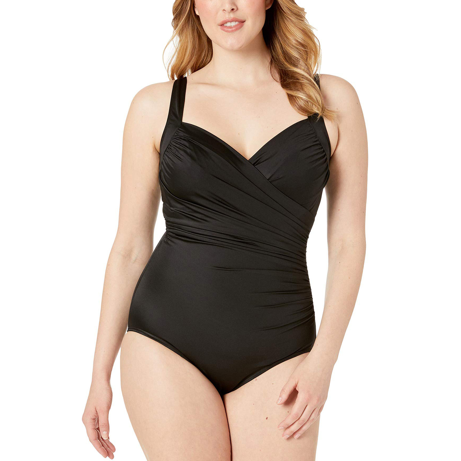 Miraclesuit Plus Size Solid Sanibel One-Piece