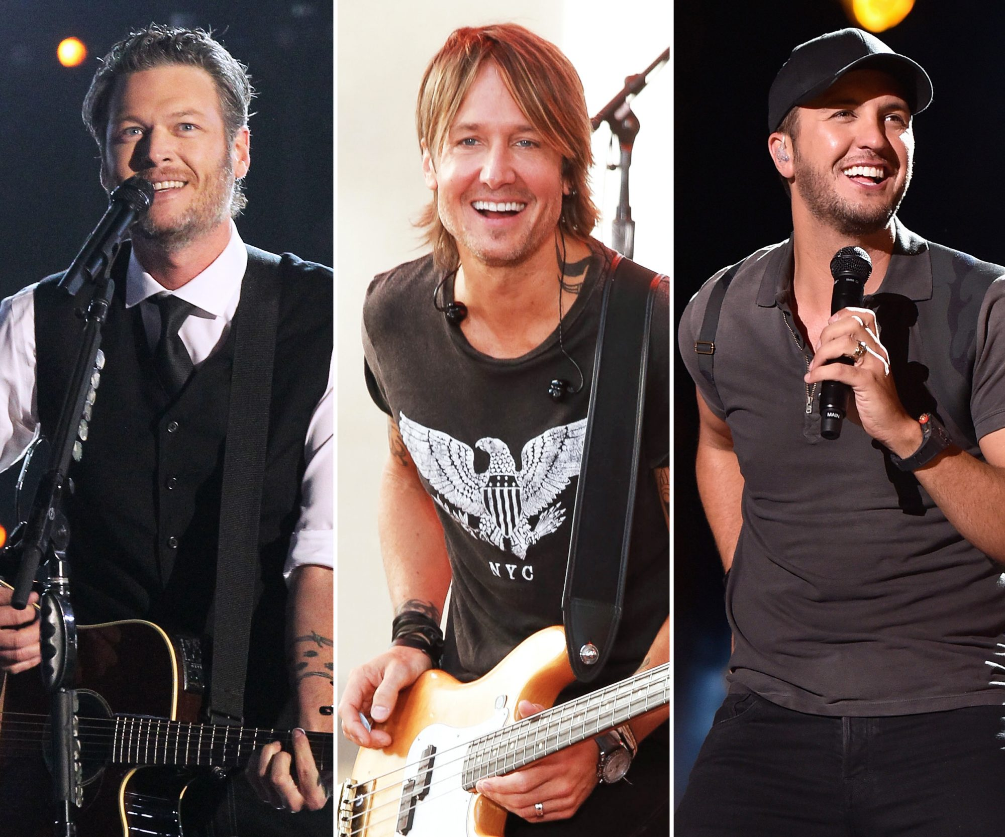 Blake Shelton, Keith Urban and Luke Bryan 3 Up - Lead 2016