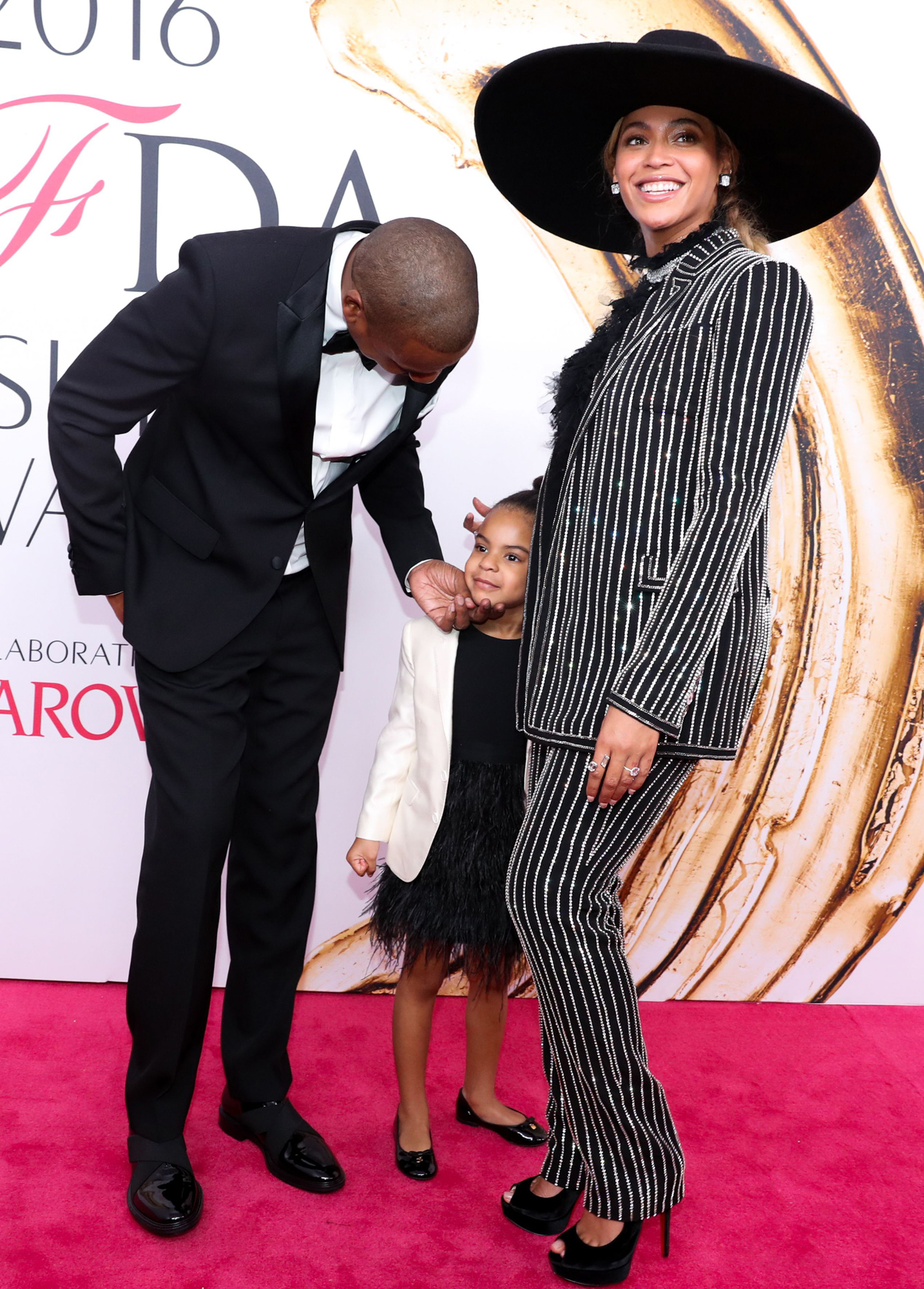 Mandatory Credit: Photo by Neil Rasmus/BFA/REX/Shutterstock (5712373he)Jay Z, Blue Ivy Carter, Beyoncé KnowlesCFDA Fashion Awards, Arrivals, New York, America - 06 Jun 2016