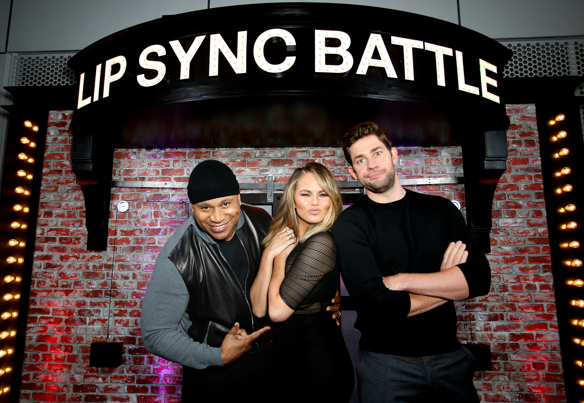 Host LL Cool J, Host Commentator Chrissy Teigen, and Producer John Krasinski attend the FYC Event - Spike's 'Lip Sync Battle' at Saban Media Center on June 14, 2016 in North Hollywood, California.