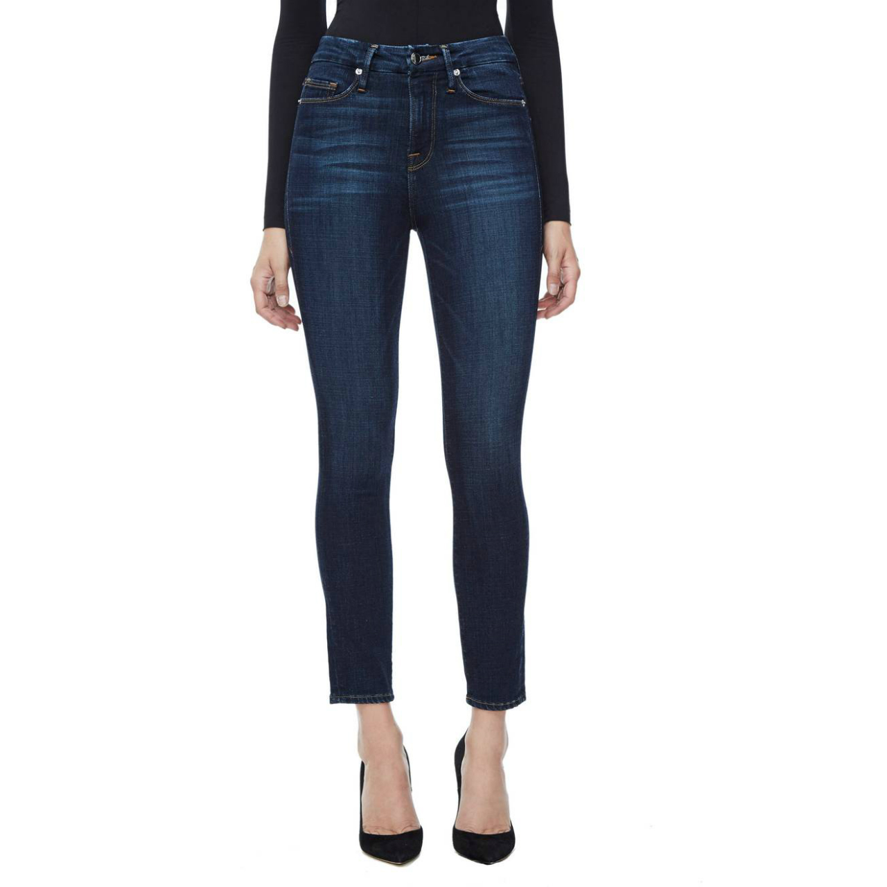 Good American Good Legs High-Waist Ankle Skinny Jeans