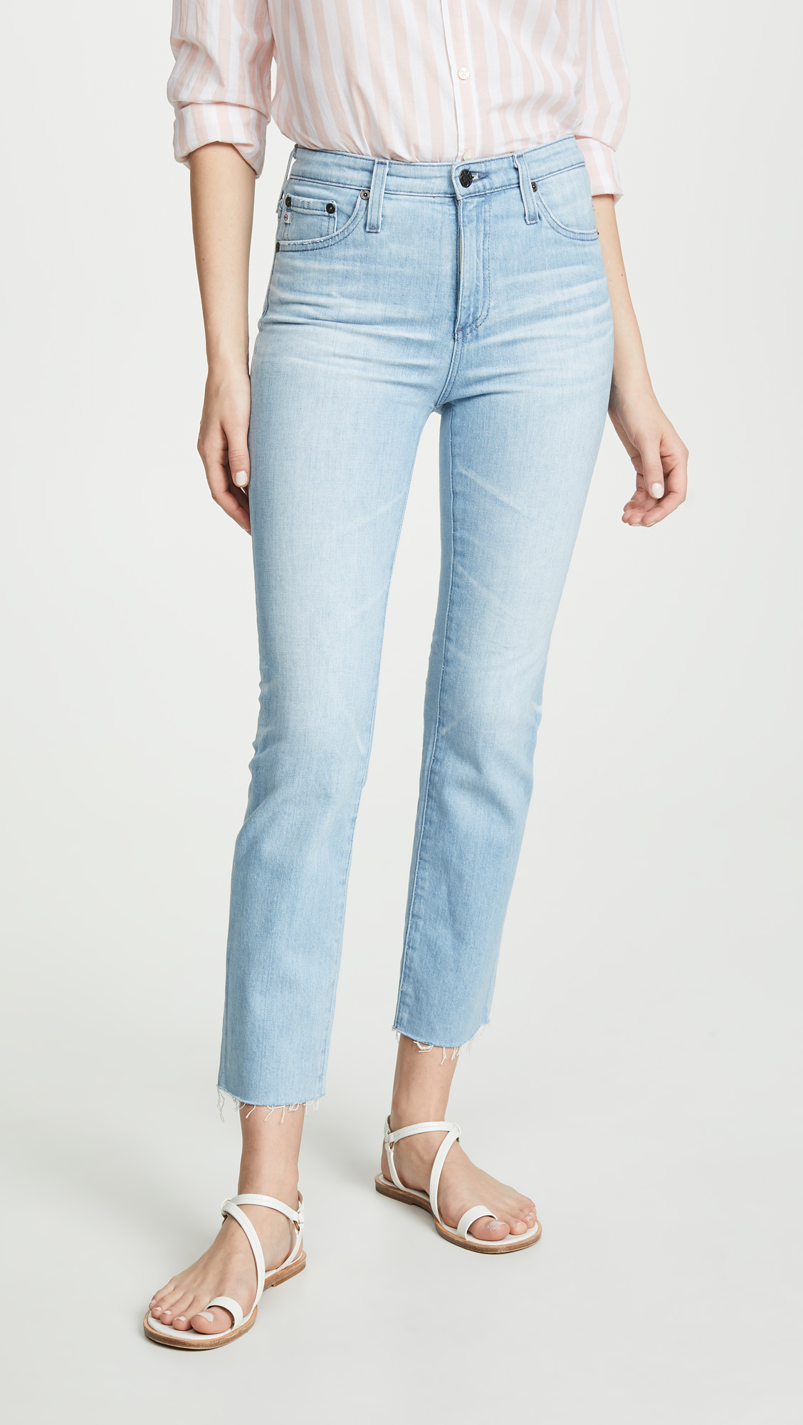 AG Jeans The Isabelle High-Rise Straight Crop
