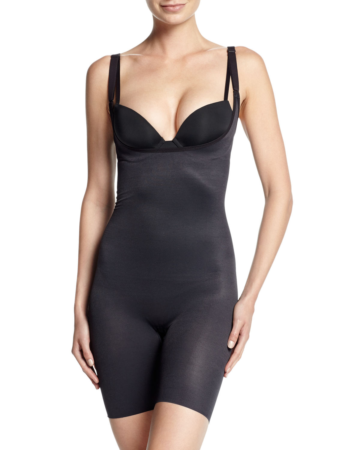 Wacoal Zoned-4-Shape Open-Bust Mid-Thigh Shaper