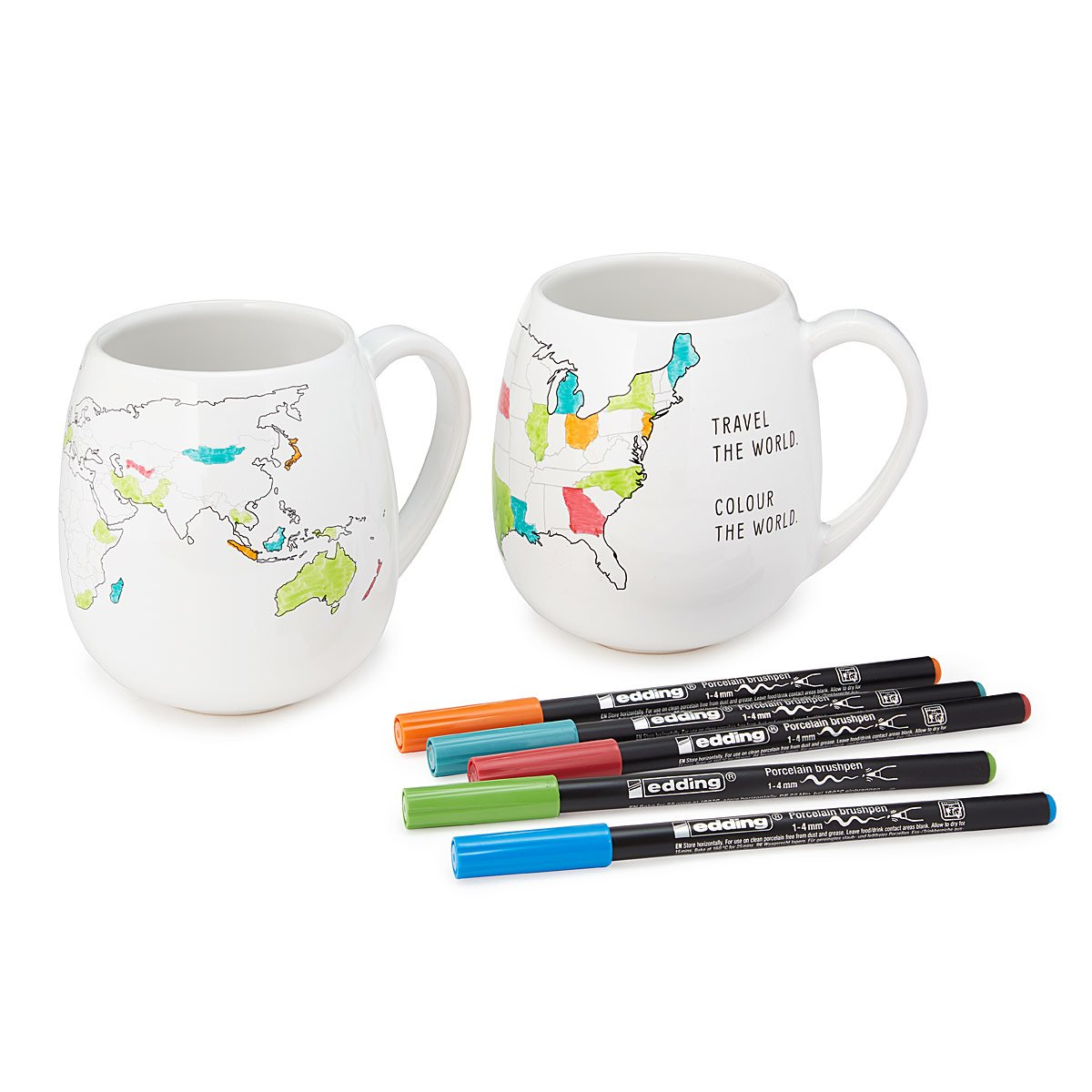 Color Map Mugs