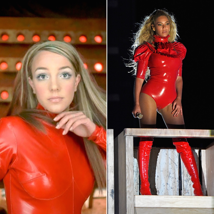 THE RED LATEX BODYSUIT