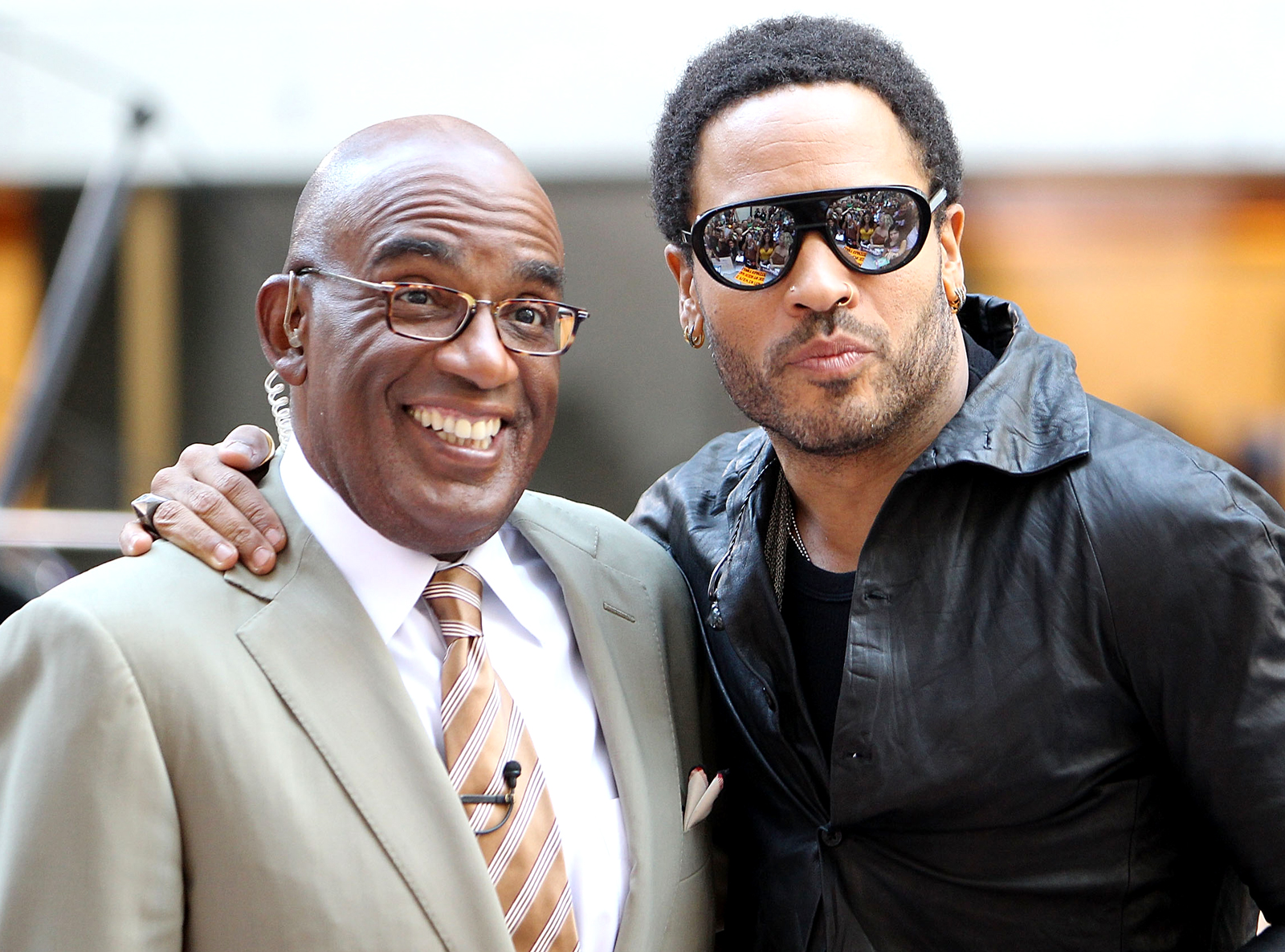 Al Roker and Lenny Kravitz