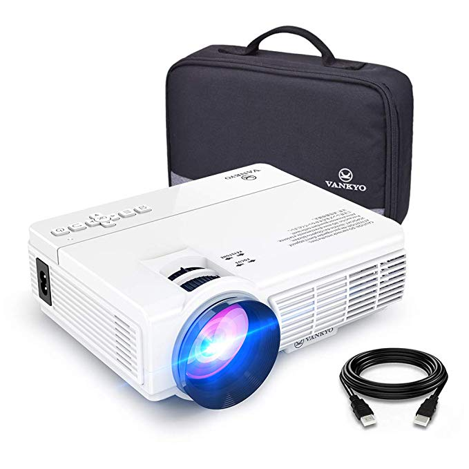 Vankyo Leisure 3 (Upgraded Version) 2400 Lux LED Portable Projector with Carrying Bag