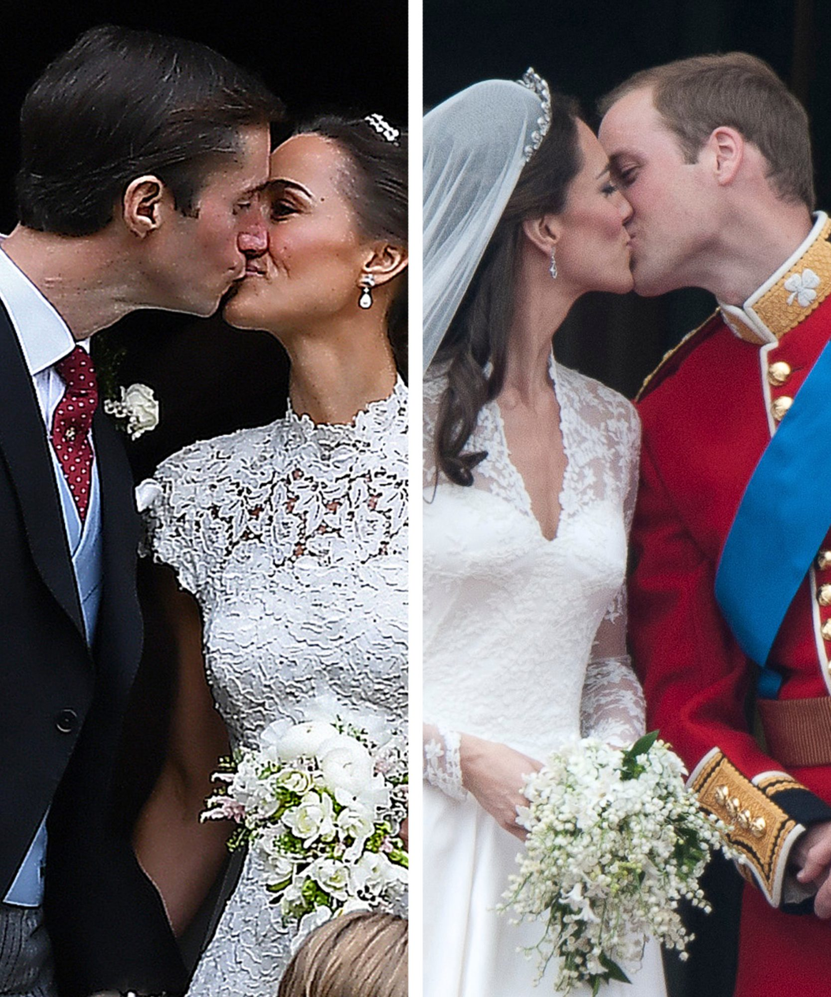 Kate Middleton and Pippa Middleton at their Weddings