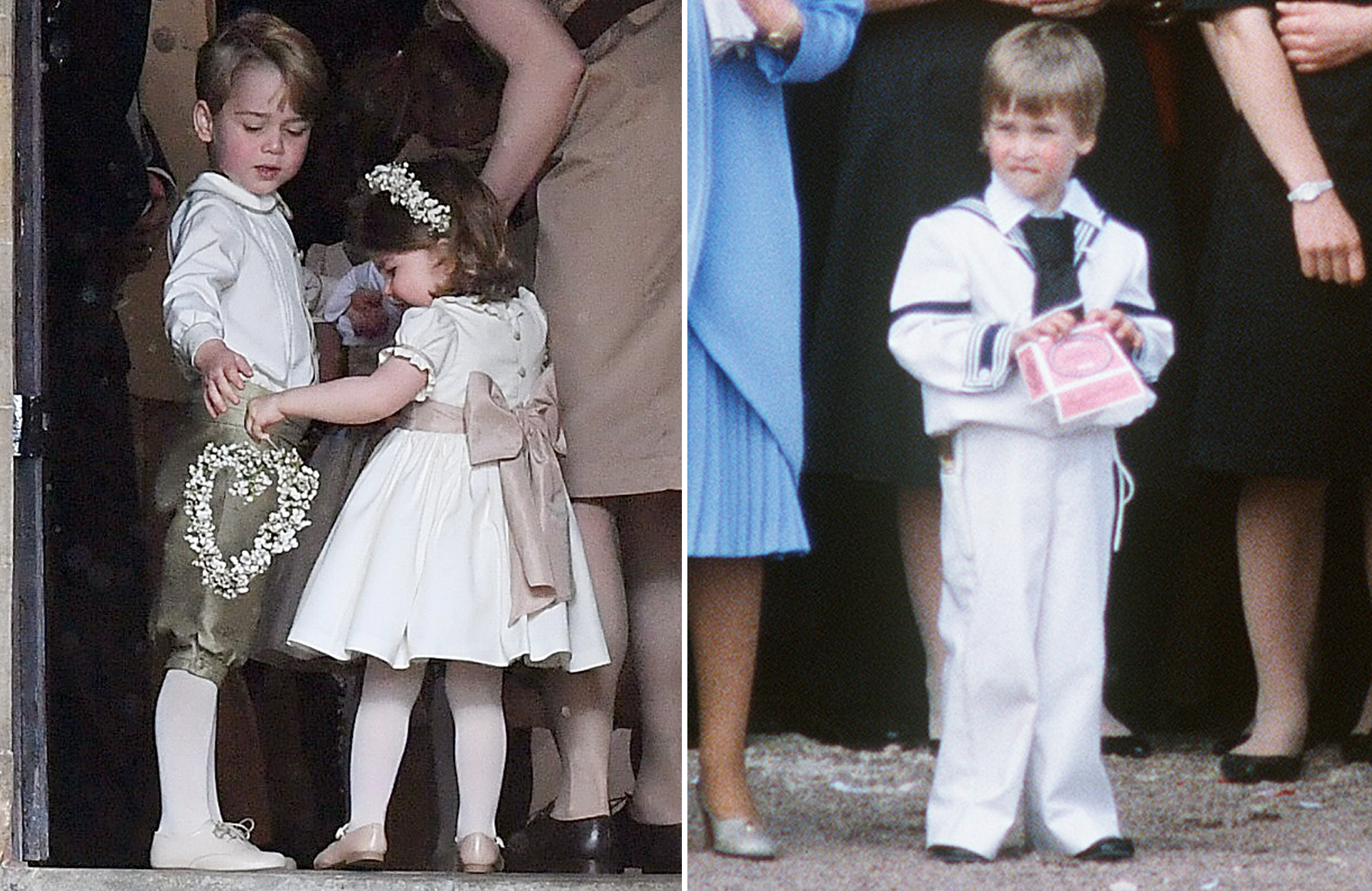 See Prince George and Prince William as Pageboys — 31 Years Apart!