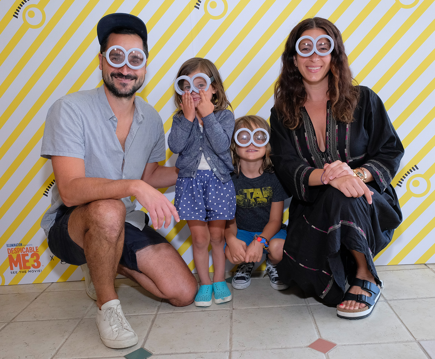 Rebecca Minkoff, Gavin Bellour, and their children