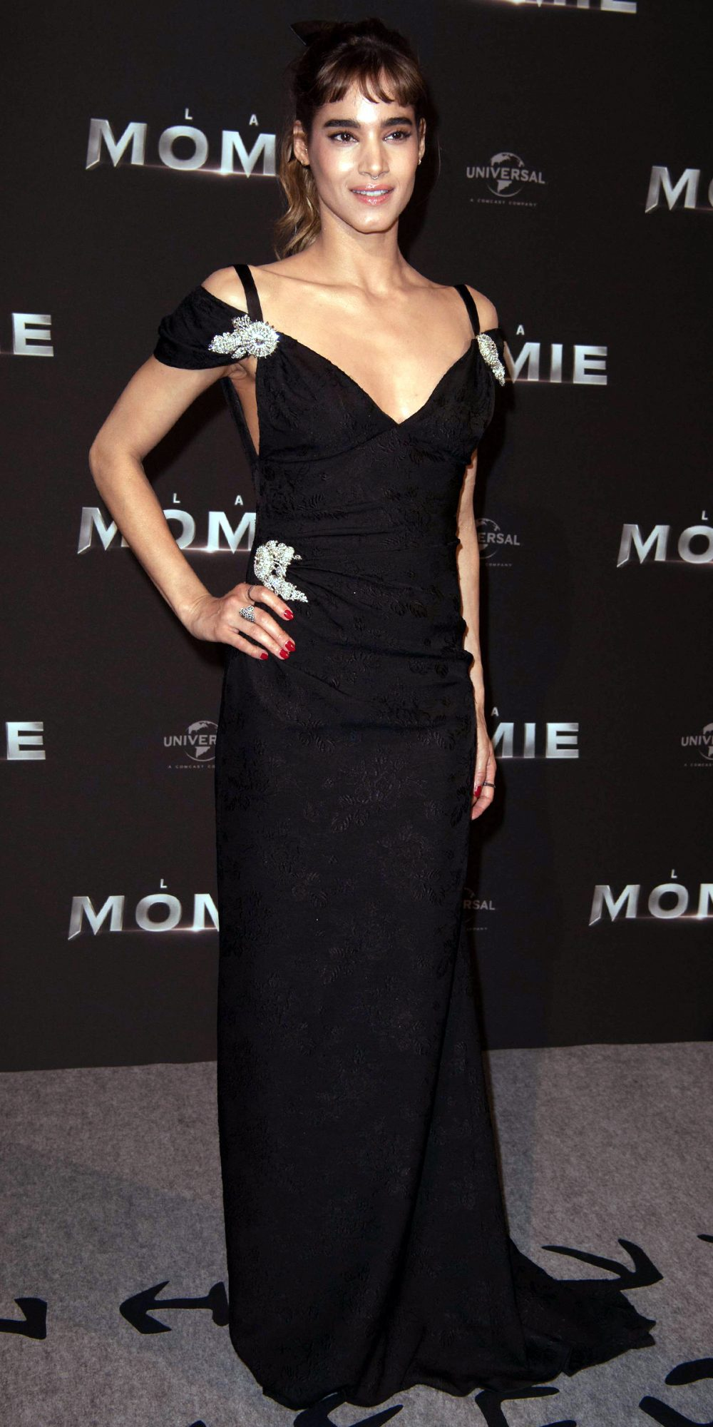In Miu Miu at the Paris Premiere of The Mummy