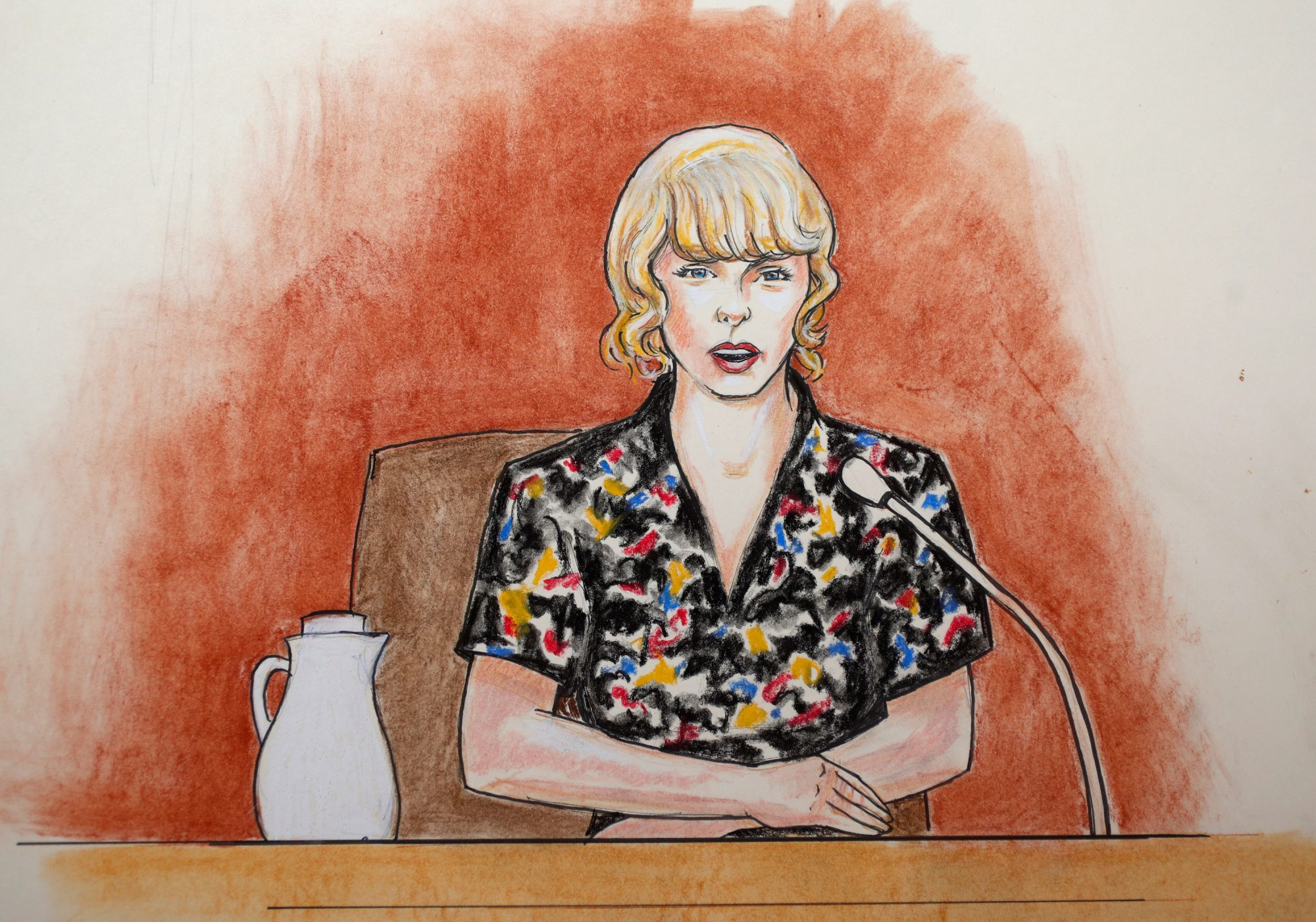 Taylor Swift - Courtroom Sketches