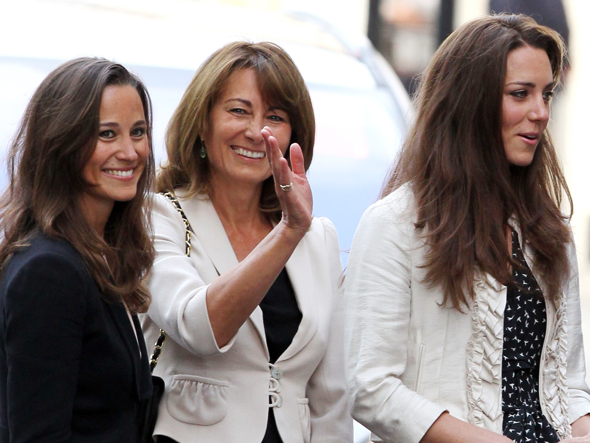 Carole Kate and Pippa Middleton