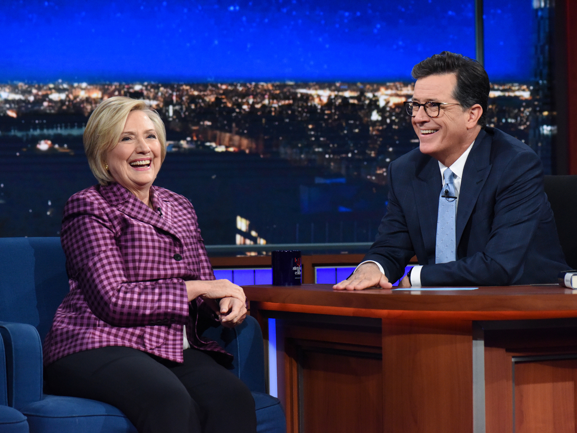 Hillary Clinton and Stephen Colbert - Lead
