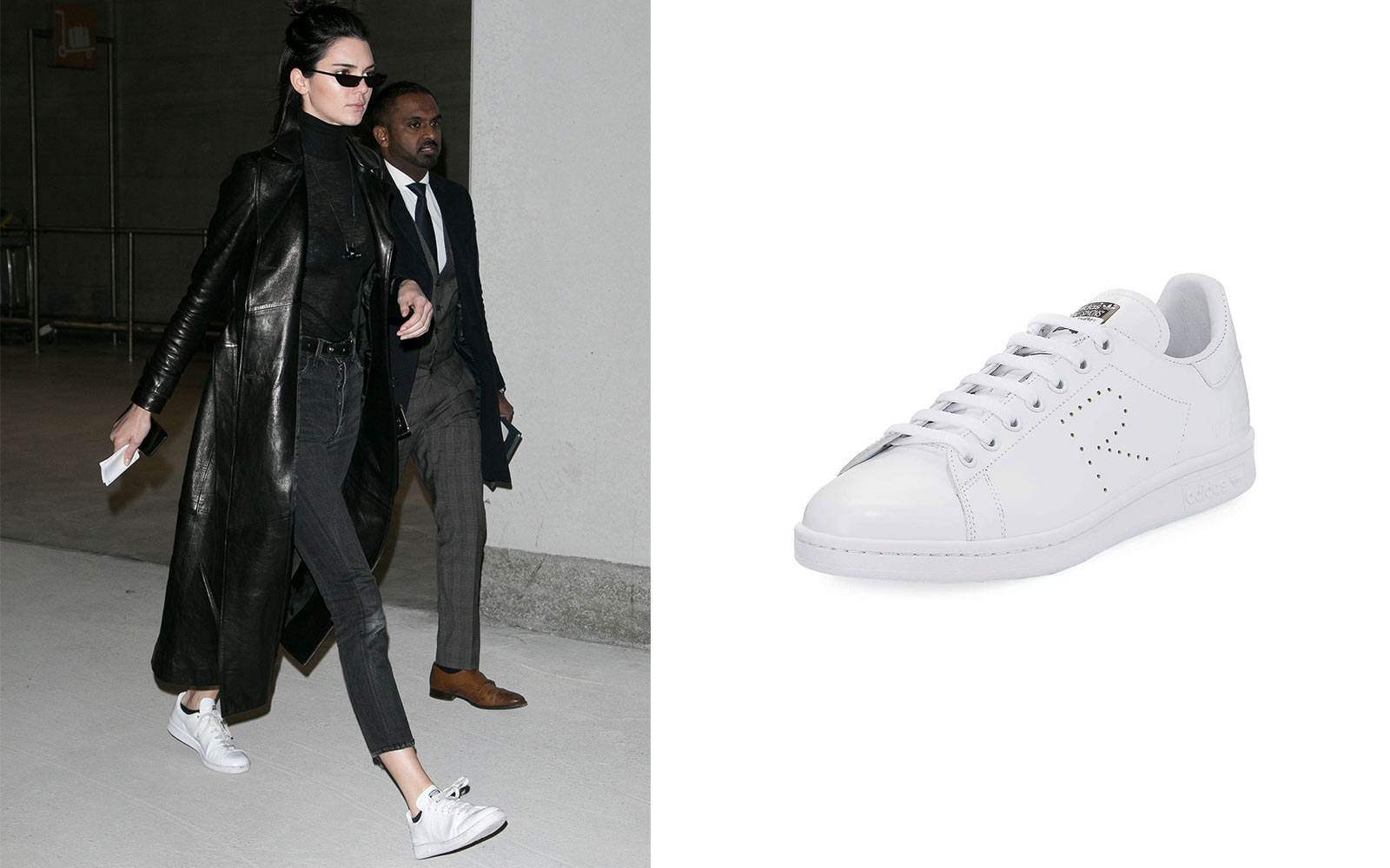 Kendall Jenner in Raf Simmons sneakers