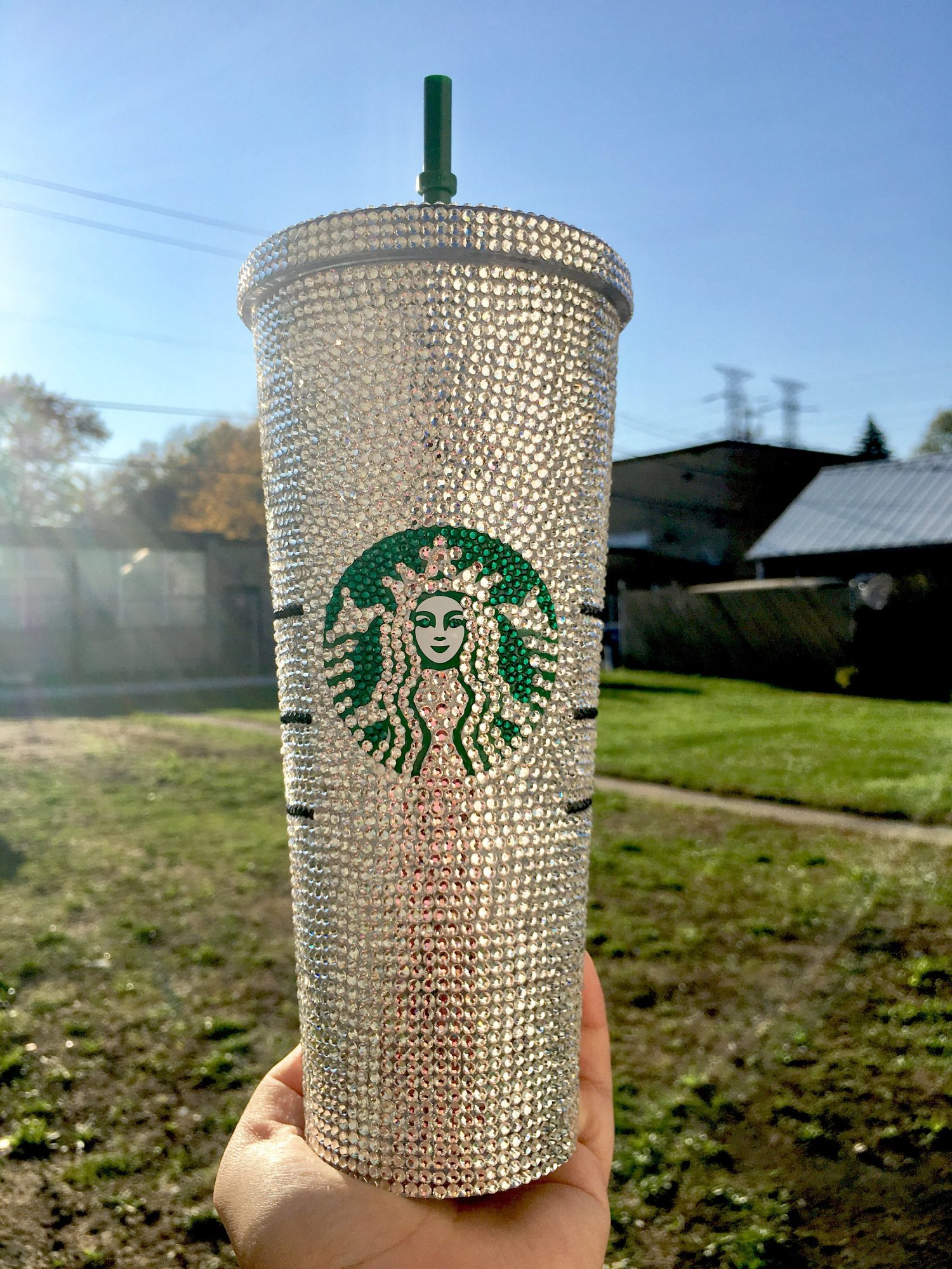 VIOLETSPINKBOUTIQUE Bling Custom Crystallized STARBUCKS Cup