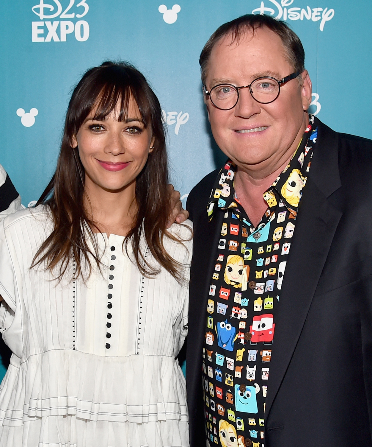 Rashida Jones and John Lasseter