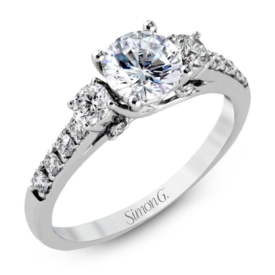 Simon G. Jewelry 18K White Gold Engagement Ring