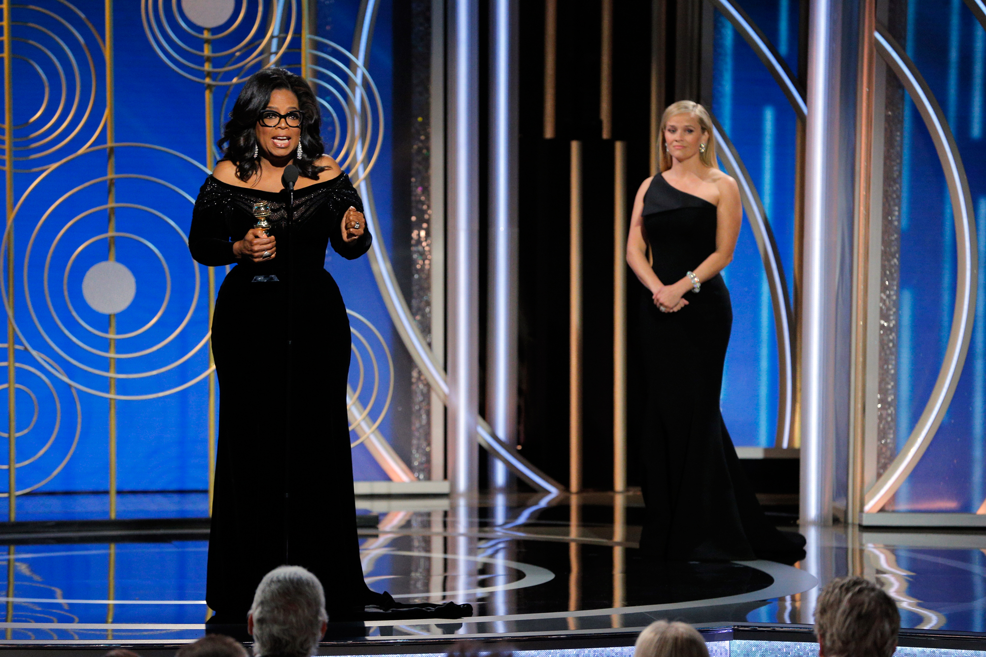 Oprah Winfrey Reese Witherspoon Golden Globes - Lead