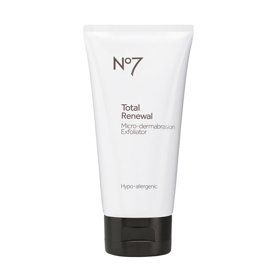 Best Drugstore Face Washes - No7 Total Renewal Micro-Dermabrasion Exfoliator
