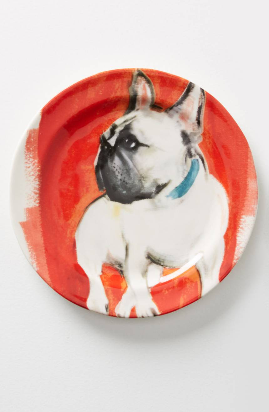 Dog-a-Day Stoneware Dessert Plate With Frenchie