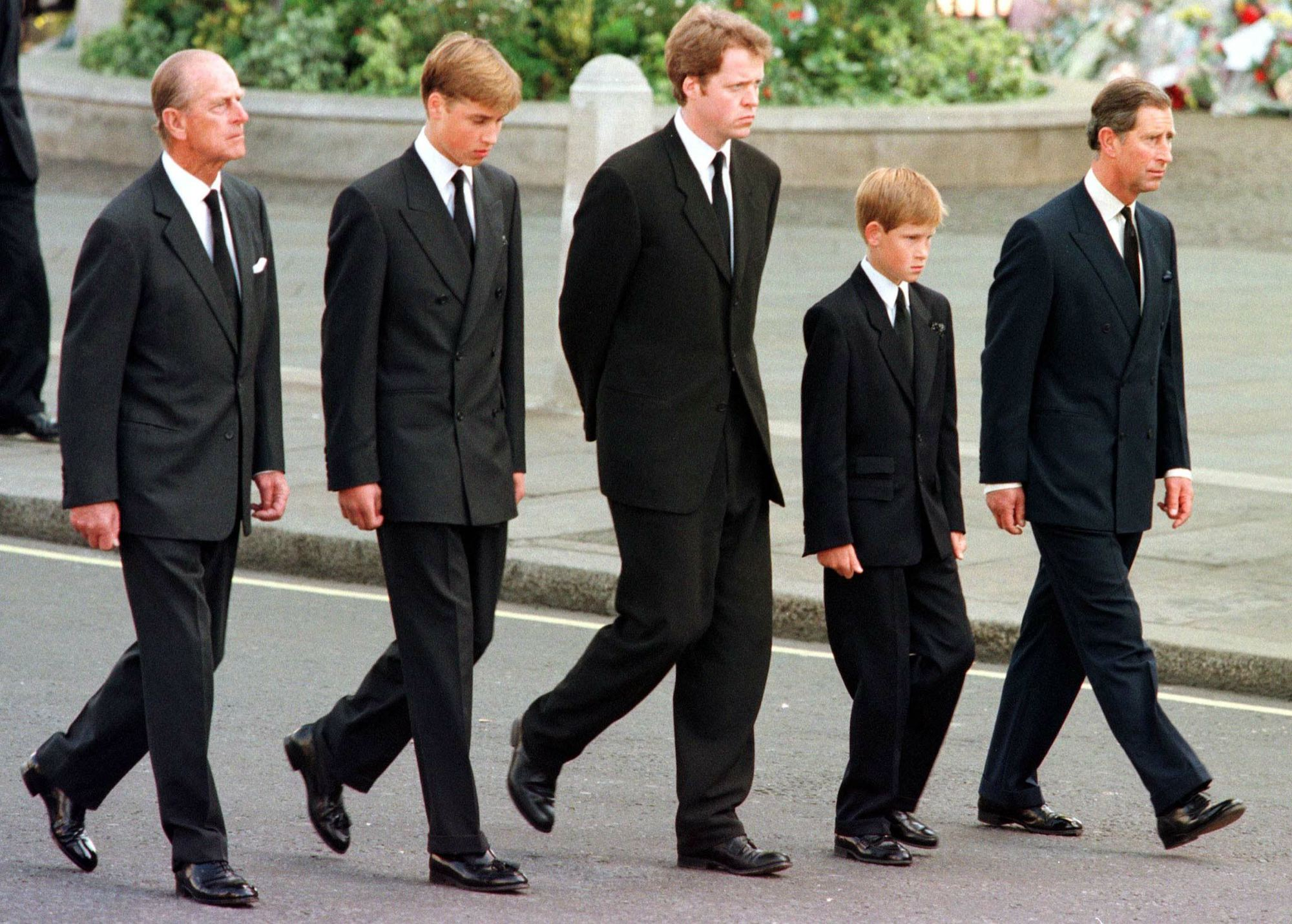 Harry, William, and Charles embed