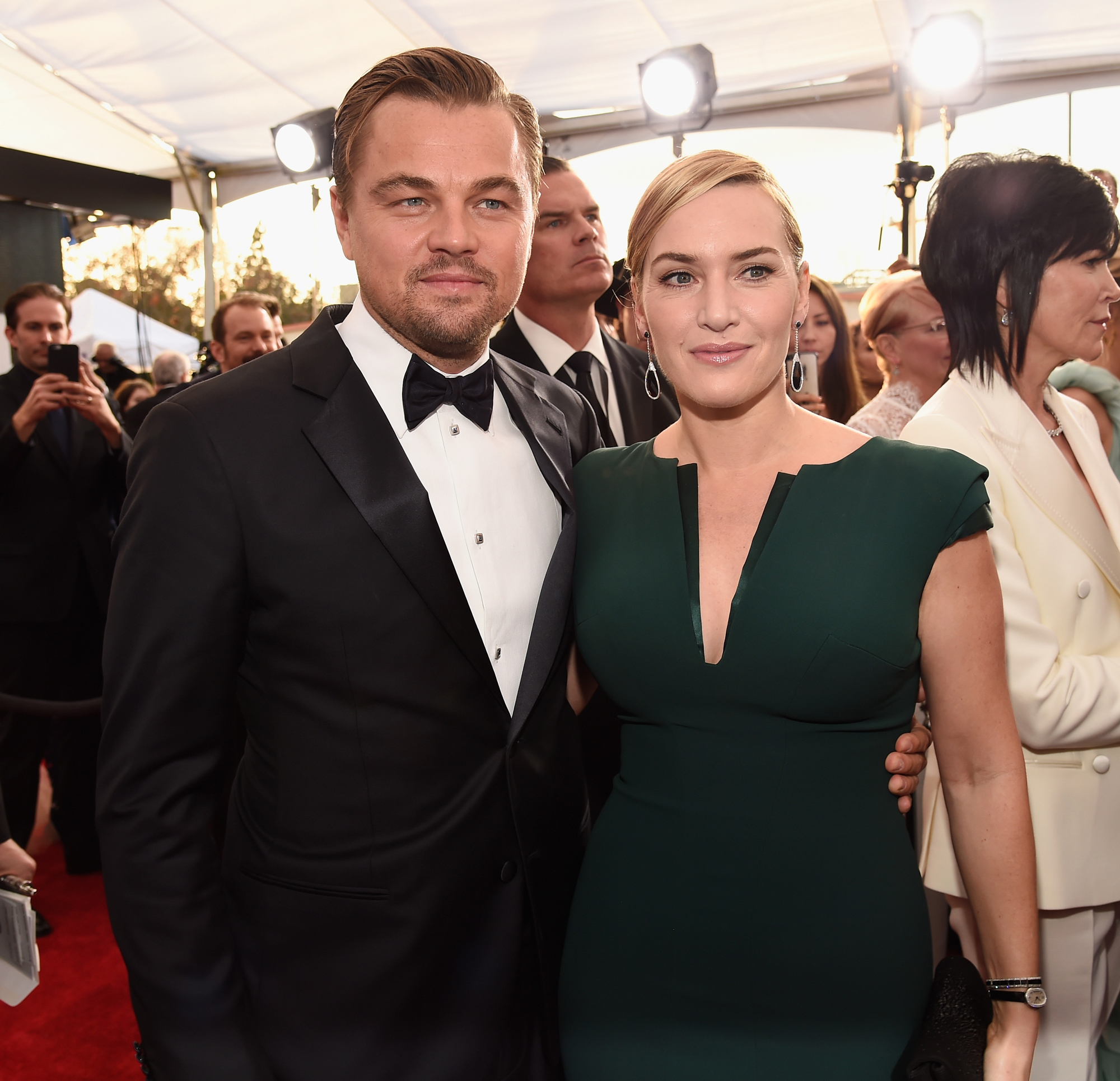 Leonardo Dicaprio Kate Winslet at the 2016 Screen Actors Guild Awards
