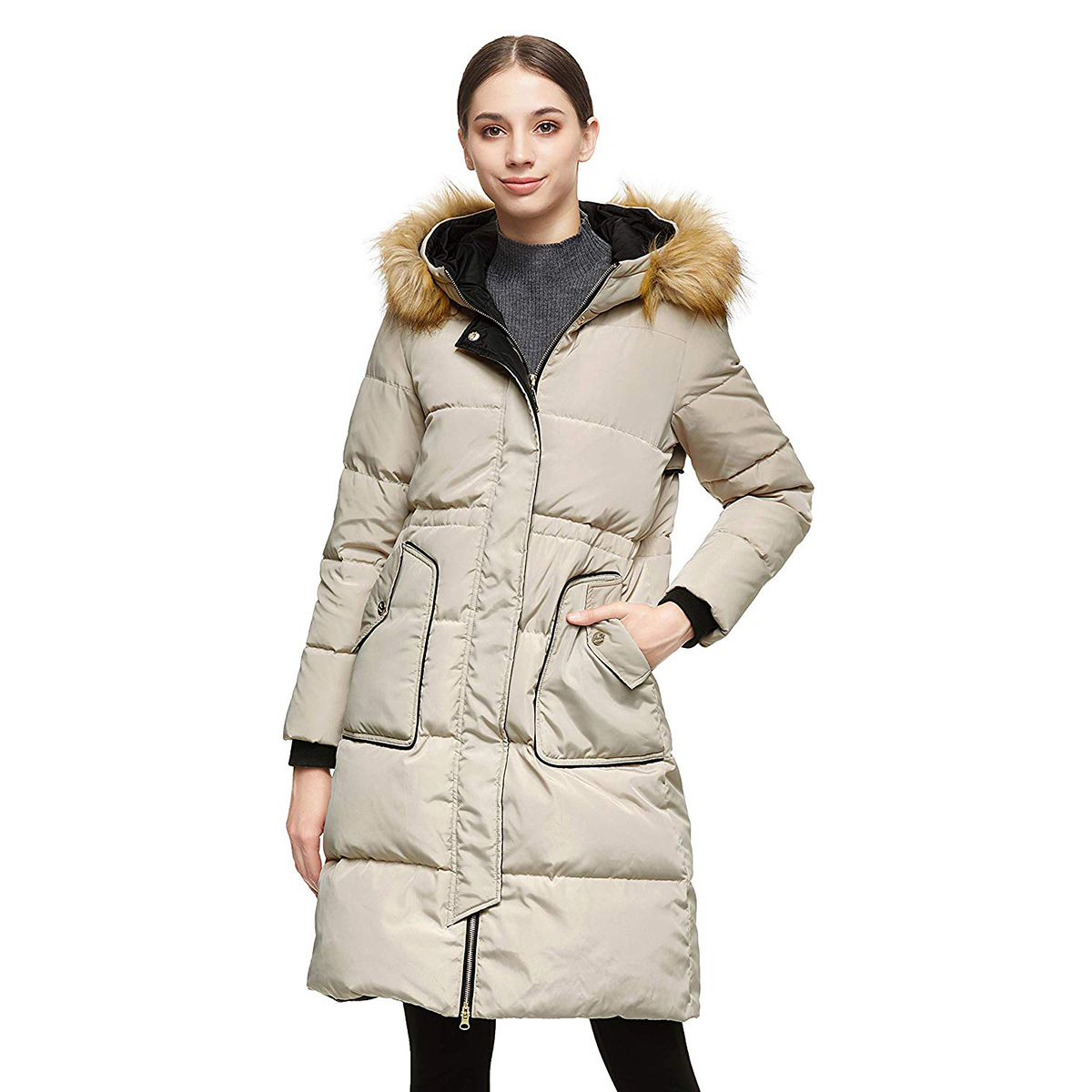 Orolay Women's Winter Casual Mid-Length Down Jacket