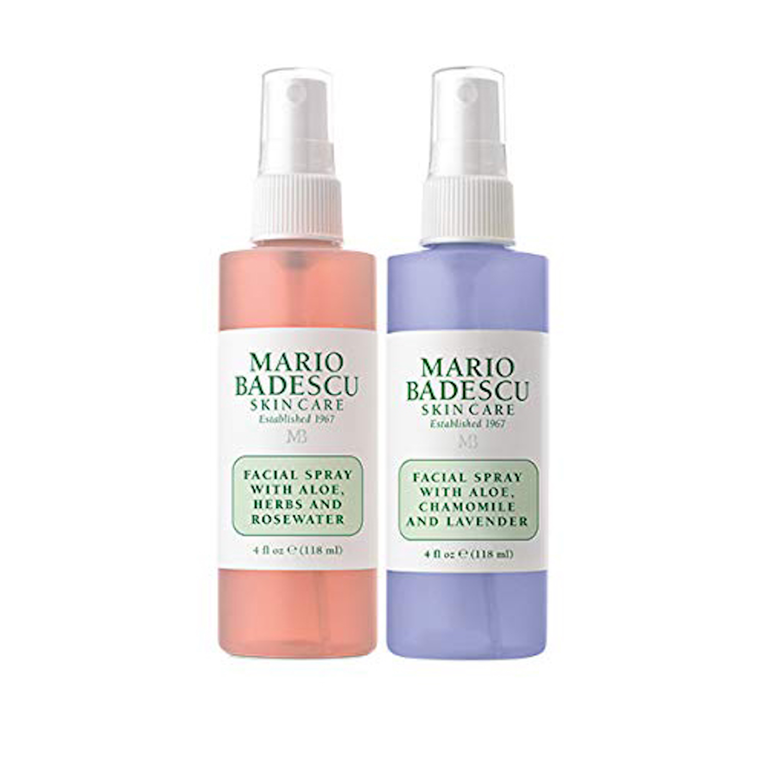 Mario Badescu Facial Spray Rosewater and Lavender Duo