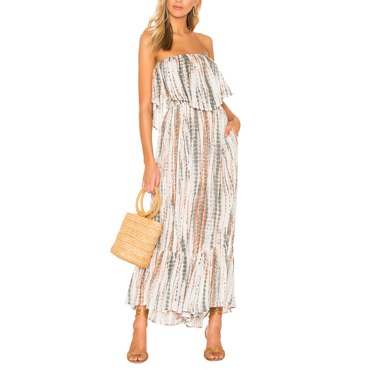 Free People Summer Vibes Tube Jumpsuit