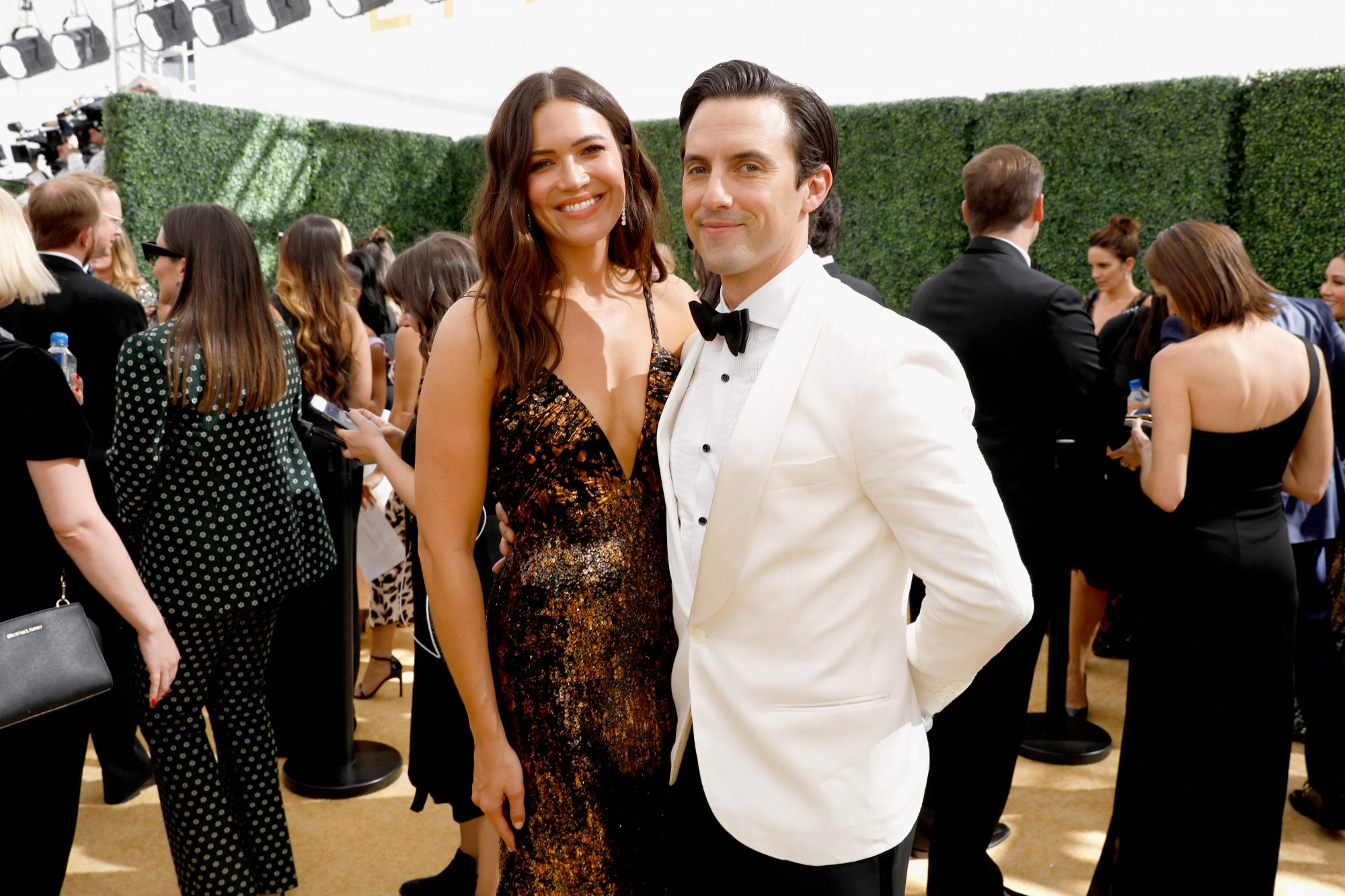"Mandy Moore Milo Ventimiglia NBC's ""70th Annual Primetime Emmy Awards"" - Red Carpet"