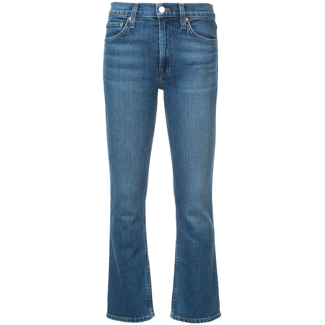 Re/Done Comfort Stretch Mid-Rise Kick Flare Jeans