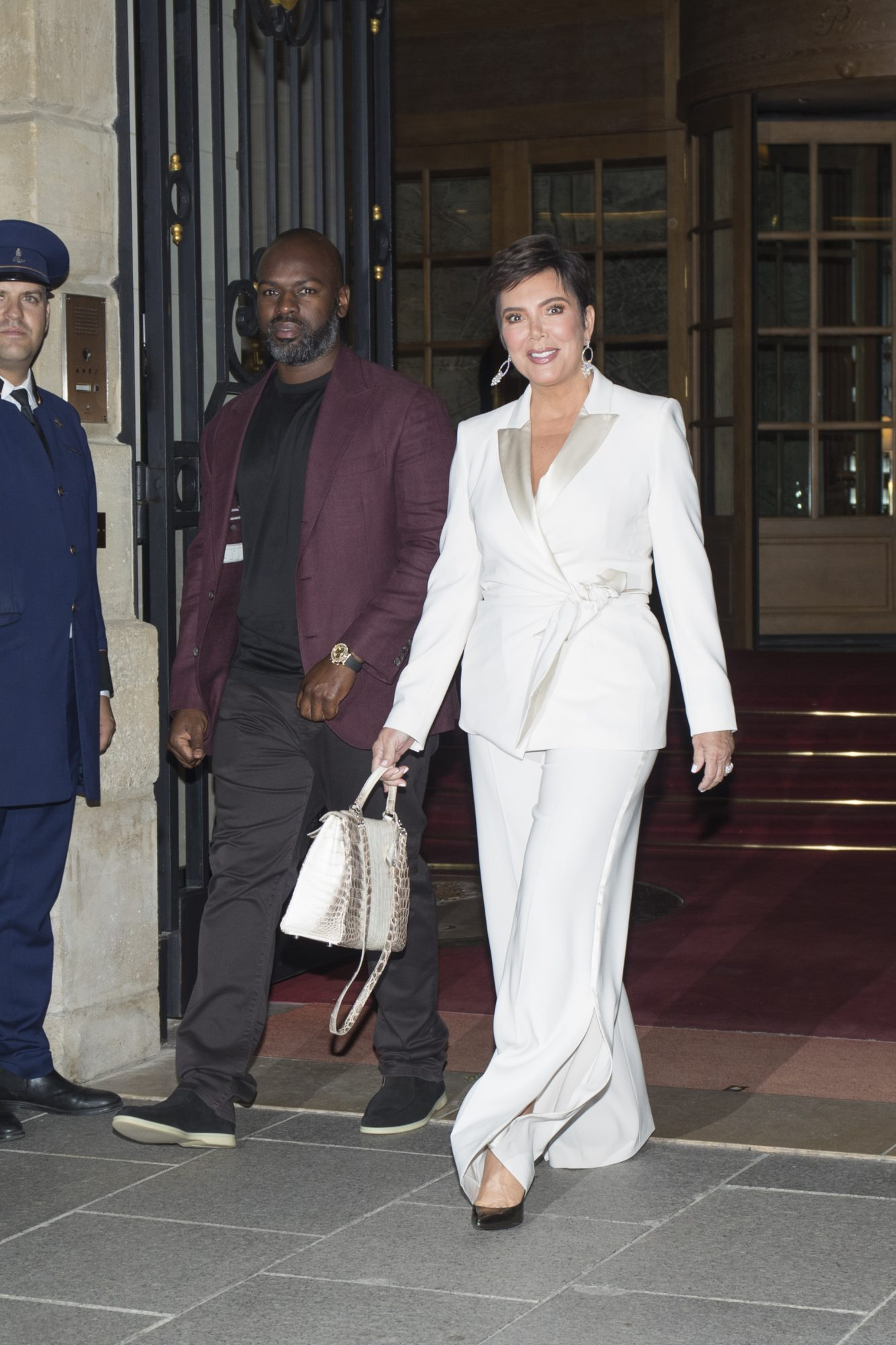 Kris Jenner wearing a suit