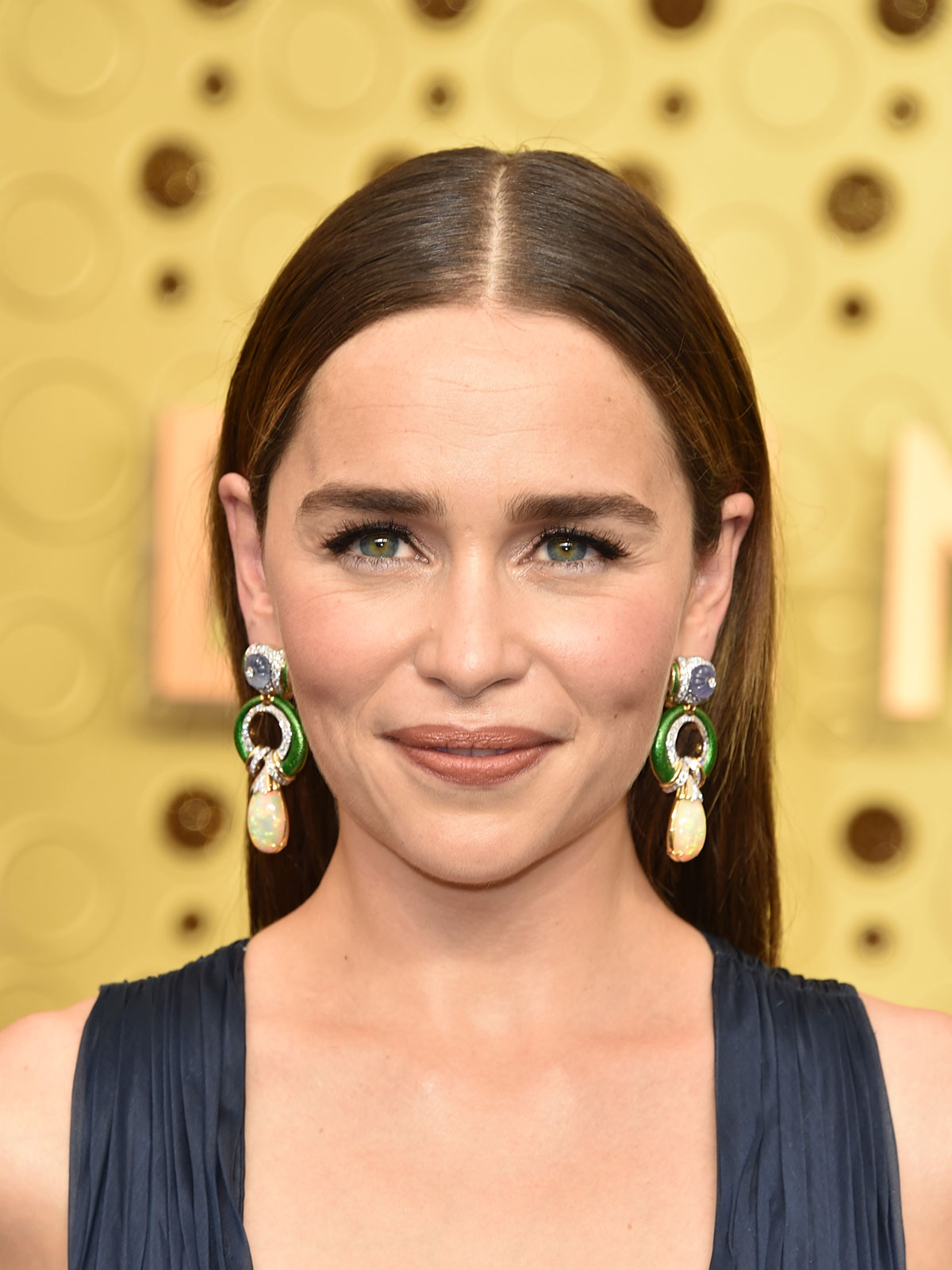 Emilia Clarke's Sleek Center Part