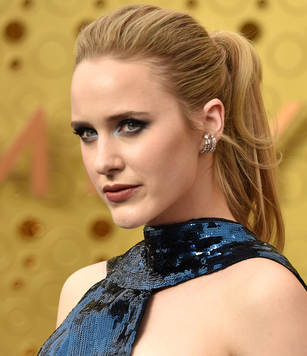 Rachel Brosnahan's High Ponytail